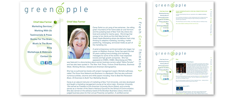 Green Apple Marketing Website
